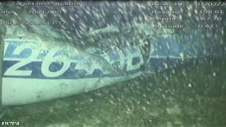 A British Air Accidents Investigation Branch (AAIB) által 2019. február 4-én közreadott kép az Emiliano Salát szállító N264DB kisrepülőgépről a La Manche-csatorna fenekén
