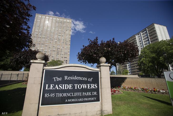 A torontói Leaside Towers, itt tartóztatták le McArthurt