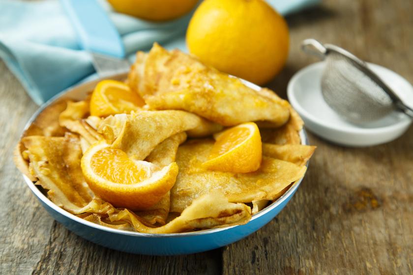 Káprázatos, puha, narancsszószos palacsinta: ezekkel az arányokkal dolgozz