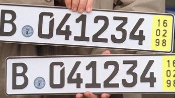 Jog szerint használható itthon az ideiglenes német rendszám