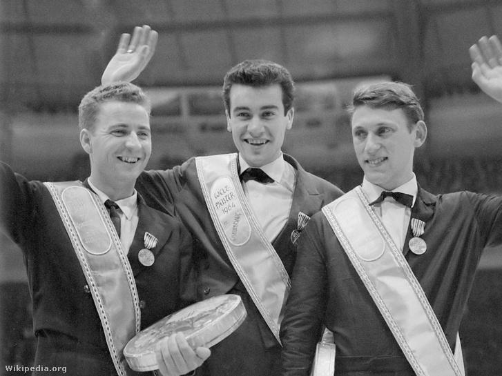 Karol Divín (b), Manfred Schnelldorfer és Alain Calmat (1964)