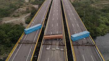 Barikáddal állt a segítség útjába a venezuelai hadsereg