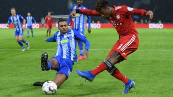 A hosszabbításban darálta be Dárdai Hertháját a Bayern