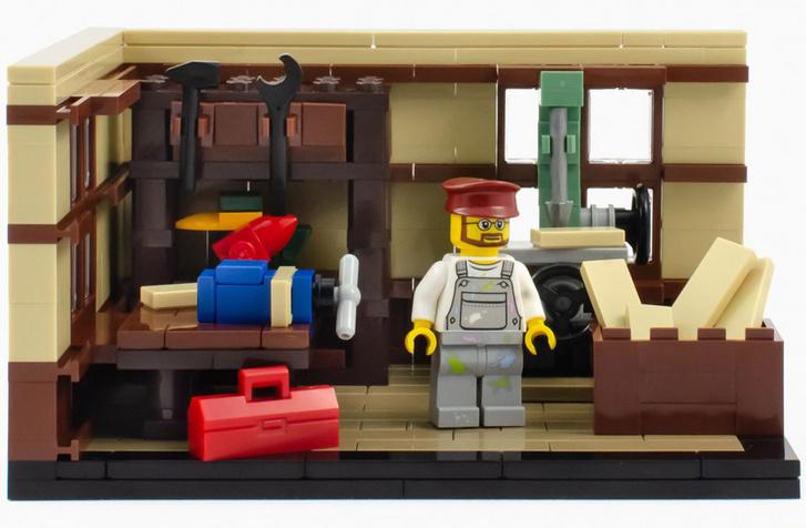 Lego-műhely a harmincas években, amikor még csak fajátékokat gyártottak