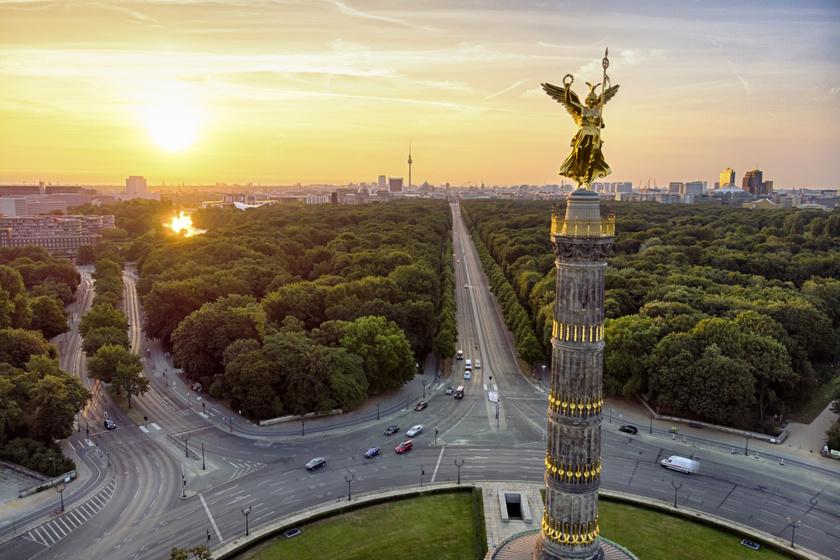 Berlin mindig jó választás: a Győzelmi oszlop tetejéről csodálatos kilátás nyílik a zöld városra
