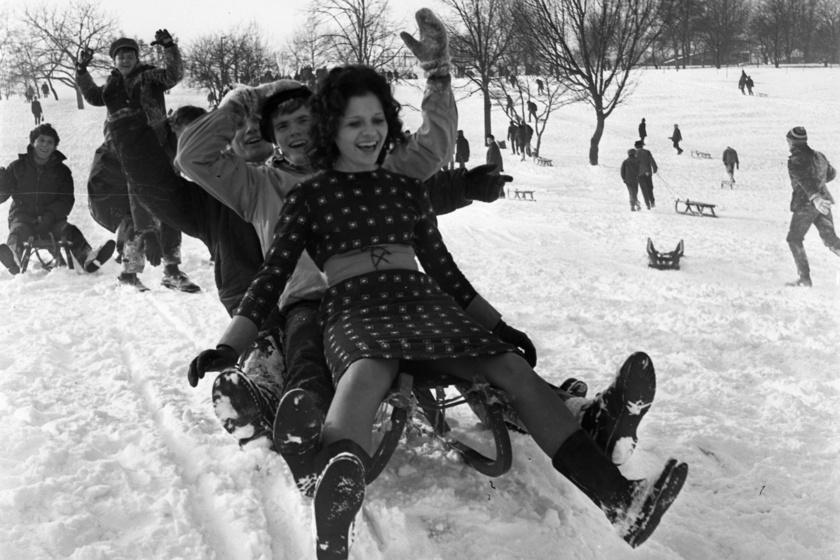 Micsoda telek voltak akkor! 50 éves fotókon a behavazott Magyarország