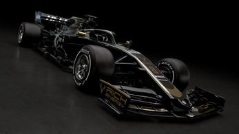 Éjfekete az első 2019-es F1-kocsi, kevés arannyal