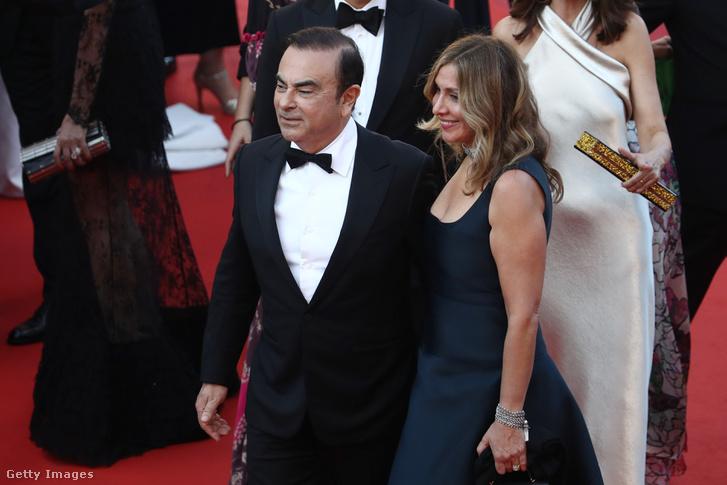 Carlos Ghosn és felesége Cannes-ban