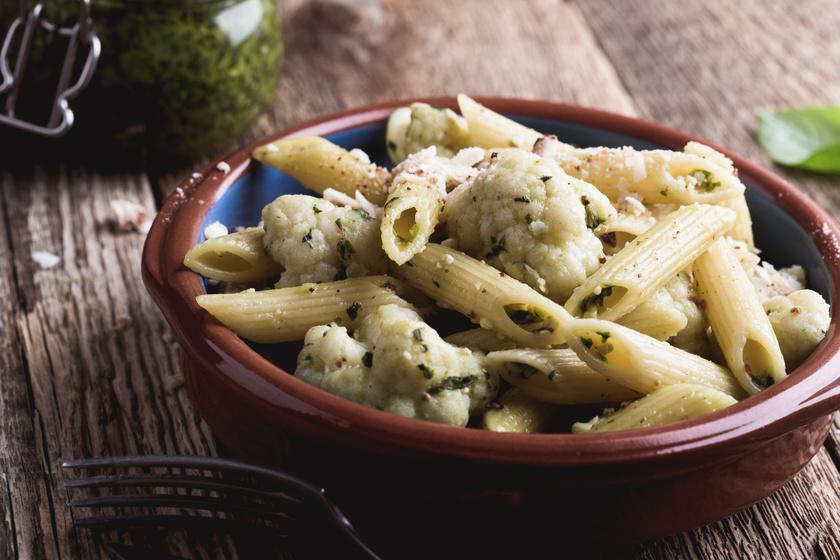 Ízletes, karfiolos, sajtos penne: 20 perc múlva már a tányérodon lesz