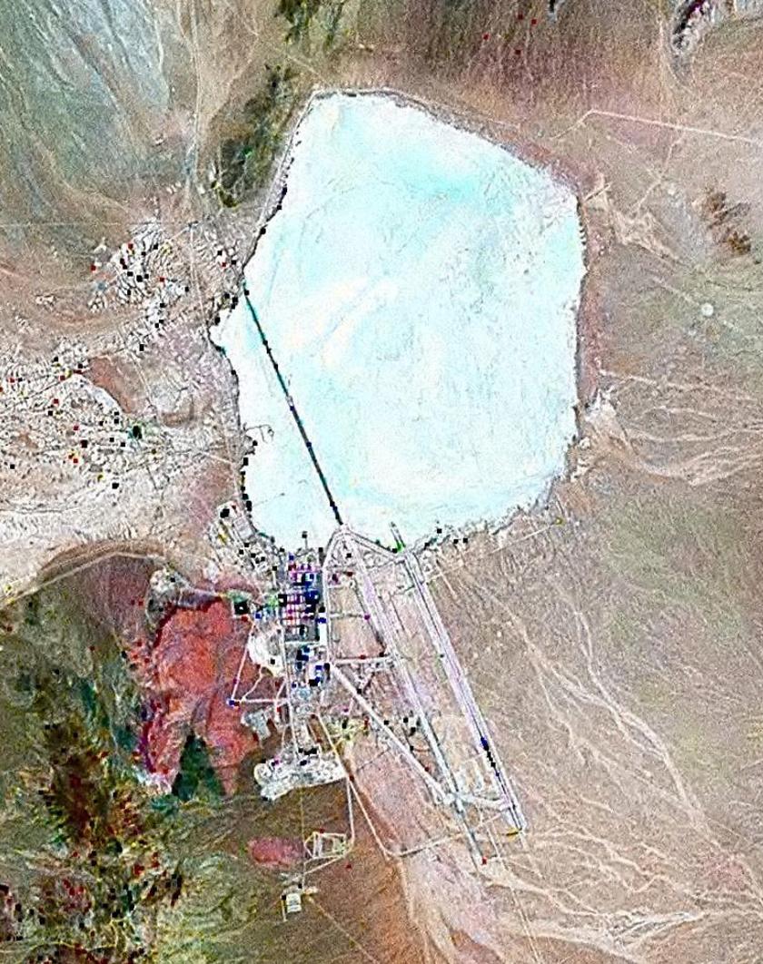 Műholdfelvétel az 51-es körzetről.