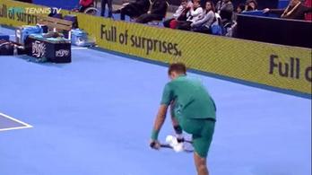Martin Klizan biztosra ment, a teniszütőjének esélye sem volt