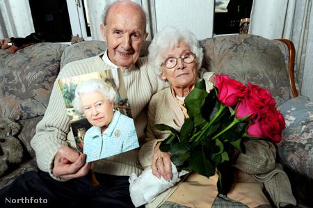 Jack és Millie Mills. 70 éve házasok