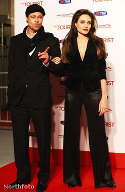 Brad Pitt és Angelina Jolie Rómában, 2010. december