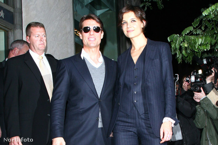 Tom Cruise és Katie Holmes Manhattanben, 2008. október