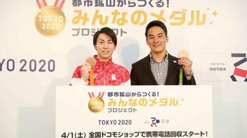 E-hulladékból készült érmet kapnak a tokiói olimpia dobogósai