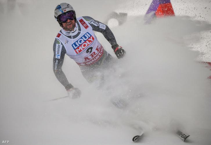 Aksel Lund Svindal az arei világbajnokság céljában