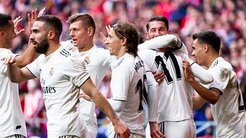 Egyre jobb formában a Real, az Atlético sem volt ellenfél