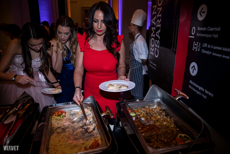 A Szépművészeti Múzeum  román csarnokát egy estére a catering és az azért sorba álló hírességek öltöztette soha nem látott pompába.
