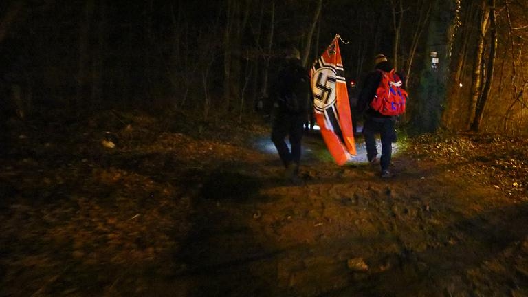 Német neonácikkal meneteltem a Kitörés túrán
