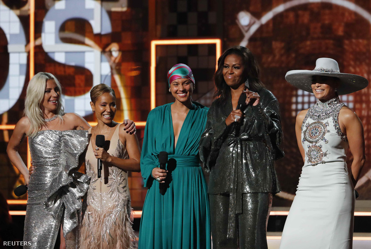 Michelle Obama a Grammy-gálán