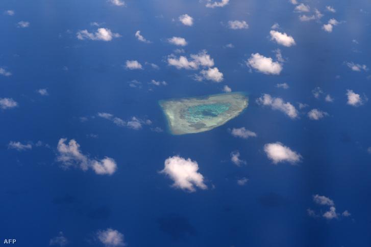 Légifelvétel a Spratly-szigetekről