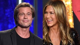 Jennifer Aniston nagyon örült, hogy Brad Pitt is ott volt az 50. szülinapján