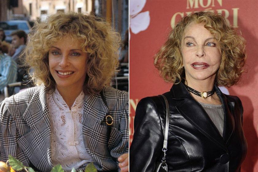 Sydne Rome A Guldenburgok örökségében és napjainkban. A plasztikai műtétek sajnos nem tettek jót a színésznő mimikájának.