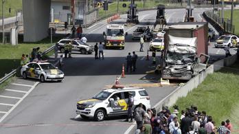 Kamionnal ütköző helikopterben halt meg Brazília egyik legismertebb újságírója