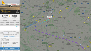 Kisbaba rosszulléte miatt Budapesten szállt le egy török járat