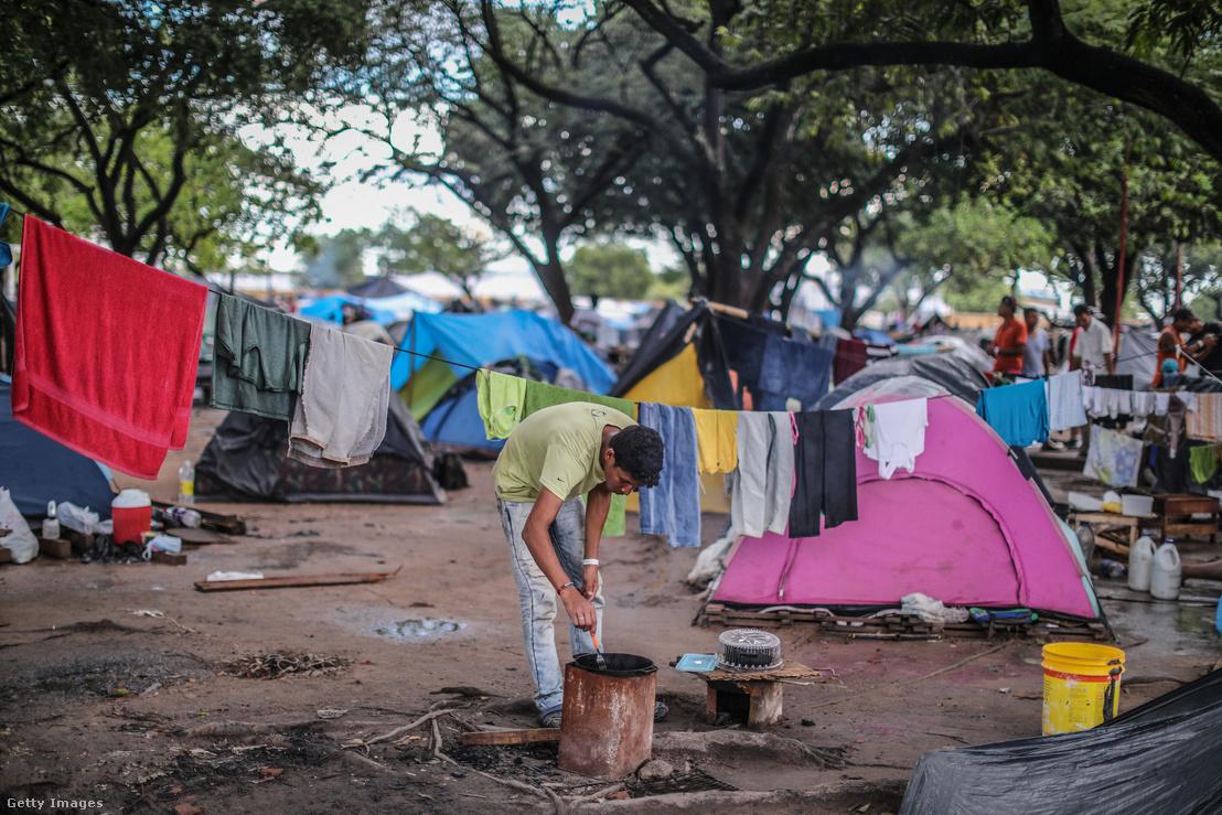 Venezuelaiak lakta menekülttábor Brazíliában