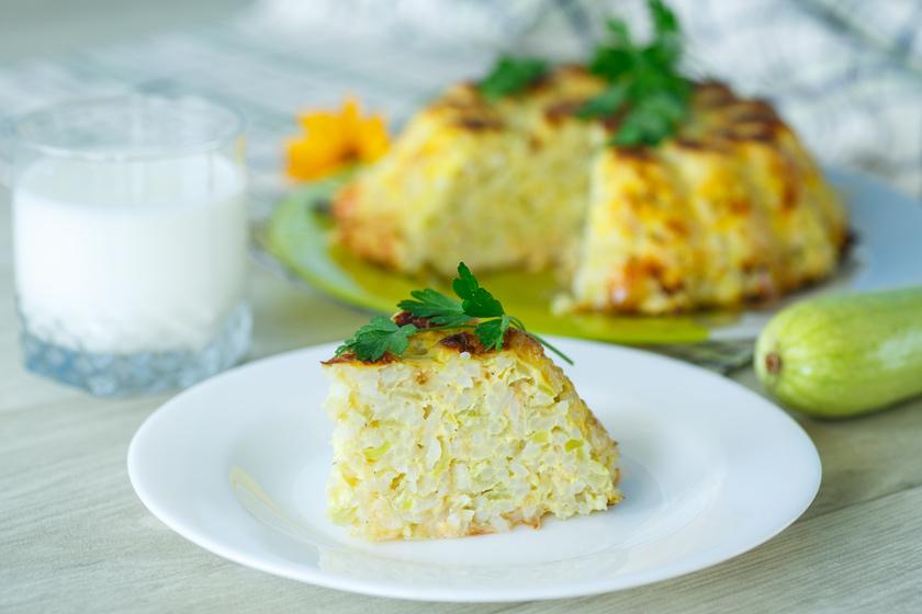 Ízletes, rizses cukkinirakott: hús nélkül is laktató