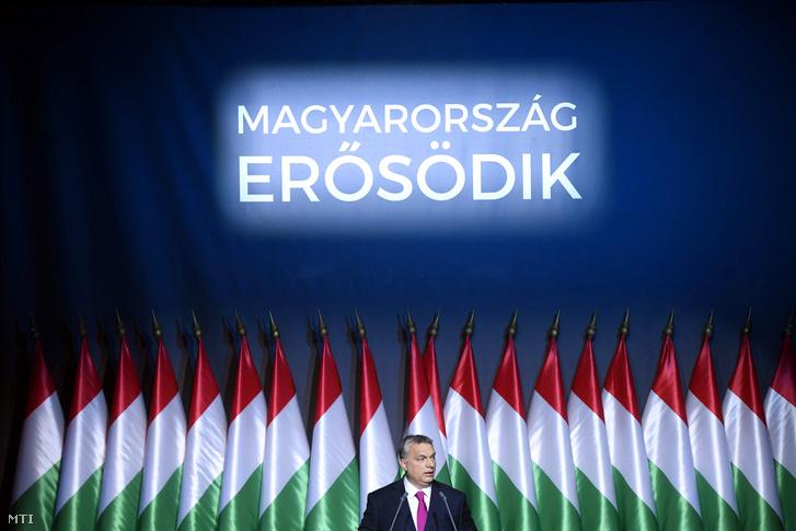 Orbán Viktor a Várkert Bazárban 2017. február 10-én.