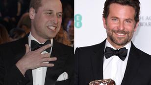 Bradley Cooper megnevettette Vilmos herceget