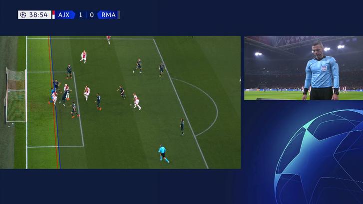 A leshelyzet és az ütközés Tadic és a kapus között, emiatt vonta vissza az Ajax-gólt Skomina