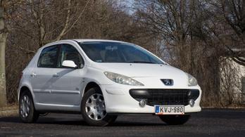 Használtteszt: Peugeot 307 1,6 D-Sign – 2007.