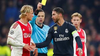 Ramos okos sárgája többmeccses eltiltást érhet a BL-ben