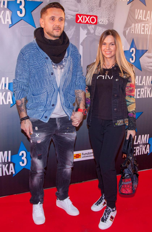 A sztárpár a Valami Amerika 3 premierjén 2018 februárjában.