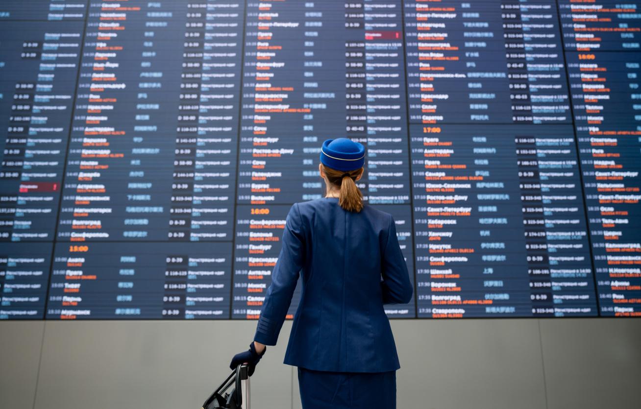 stewardess nő reptér