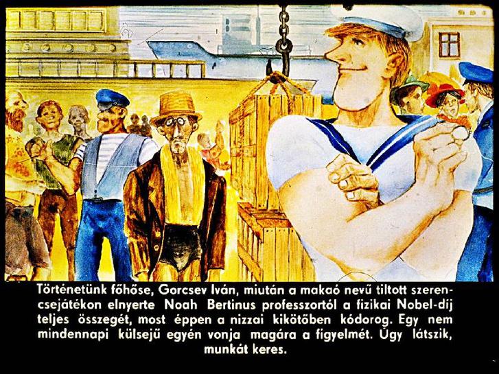 Rejtő Jenő Tizennégykarátos autójából diafilmis készült