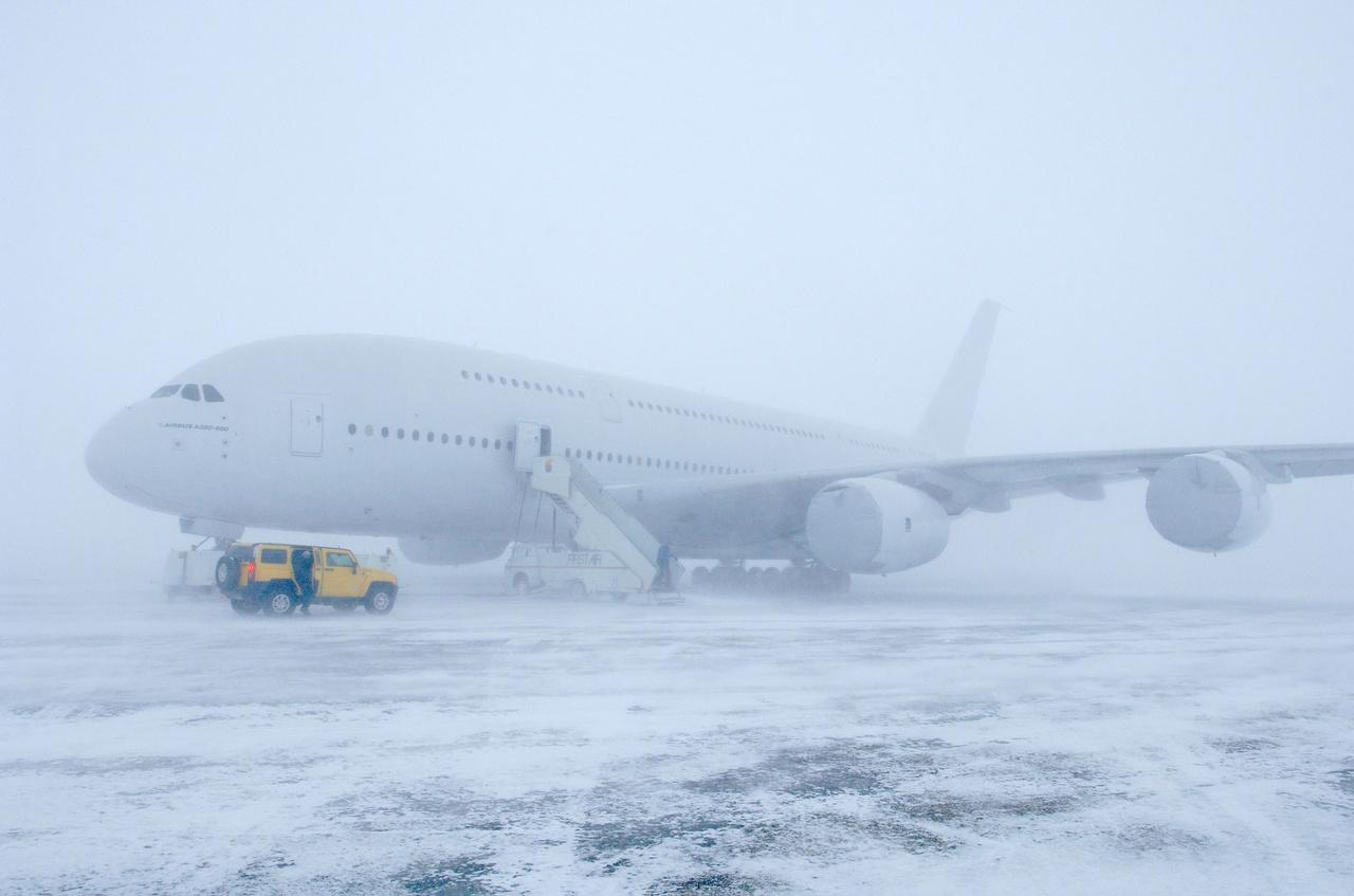 Sarkkörön túli időjárásteszt Kanadában, 2006. február 15-én.