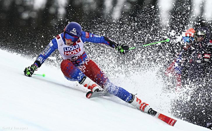 Petra Vlhova az arei alpesisí-világbajnokságon 2019. február 14-én