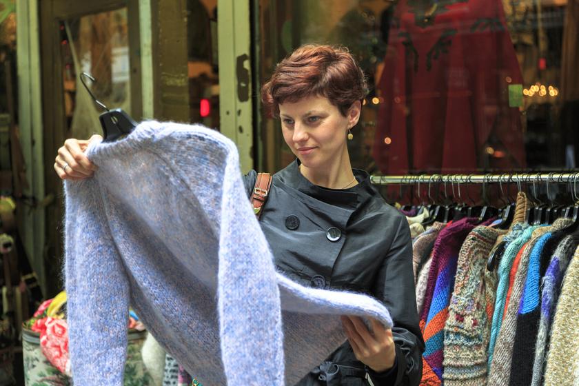 vintageshop turi nő vásárol