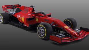 Mattpiros és fekete a Ferrari 2019-es F1-gépe