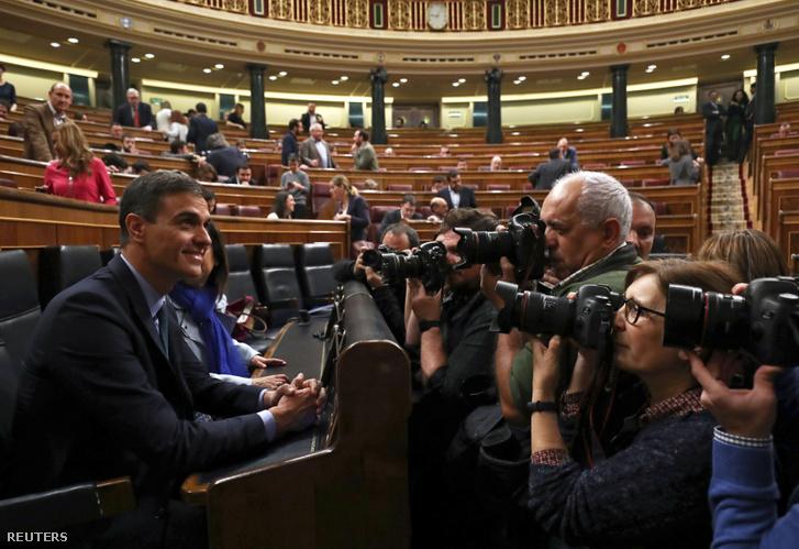 Pedro Sánchez a spanyol parlamentben