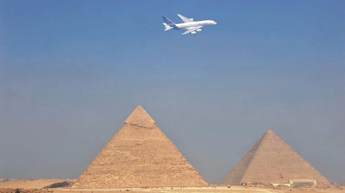 A380 over Pyramids