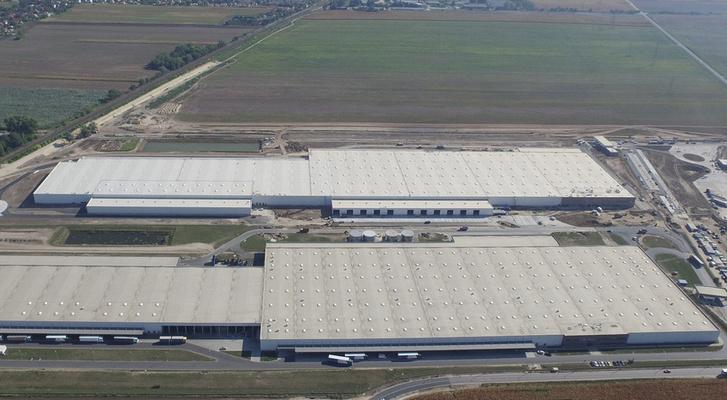 Az Audi győri üzemterülete
