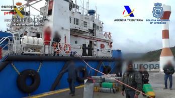 100 millió dollár értékű kokaint fogtak a portugál partoknál