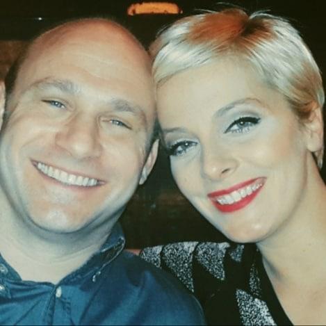 Tatár Csilla férjével közös legelső fotóját posztolta Valentin-nap alkalmából.