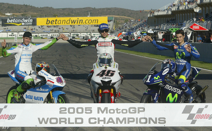 Luthi Thomas, Valentino Rossi és Dani Pedrosa