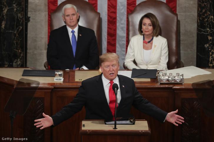 Trump beszél a kongresszus előtt